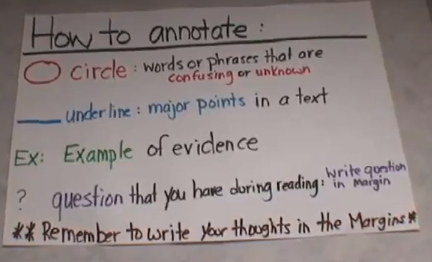 How to Annotate' | Core Task Project